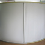 Curved wall screen - back side